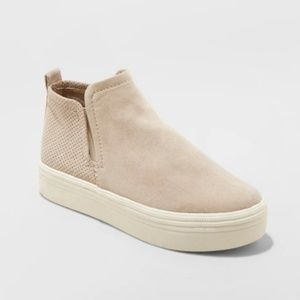 Women's Liz Microsuede High Top Sneakers - Taupe